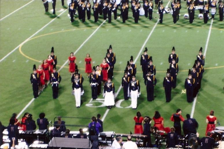 senior marching band drum major colorguard captain