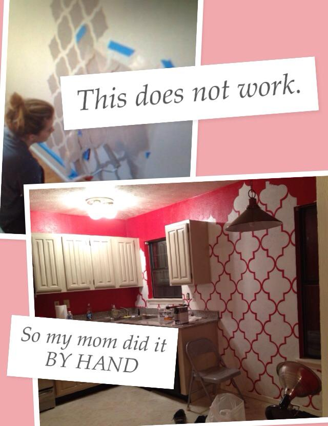 pinterest fail wall paint pattern stencil moroccan
