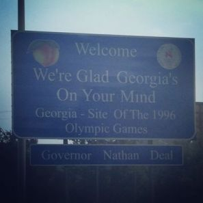 georgia welcome sign road sign