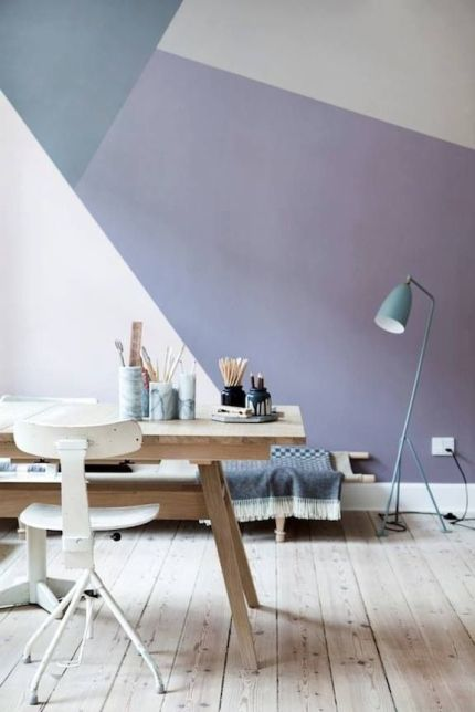geometric wall paint art