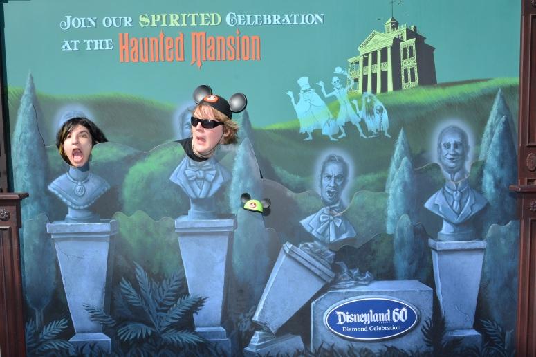 haunted mansion diamond celebration photo booth