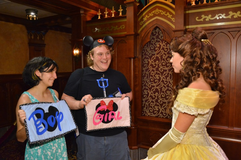 disney characters gender reveal guessing game