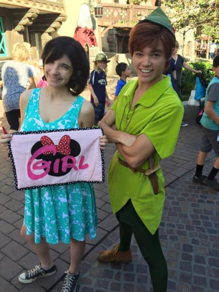 disneyland gender guessing pregnancy game peter pan