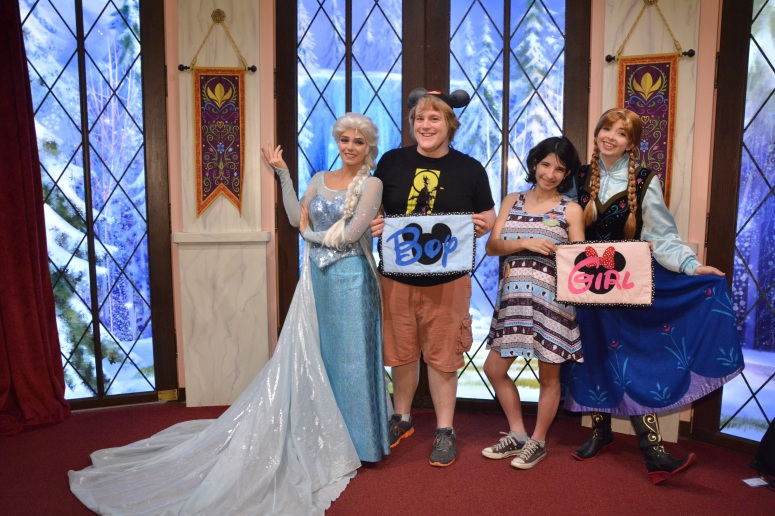 disneyland gender guess pregnancy game anna and elsa