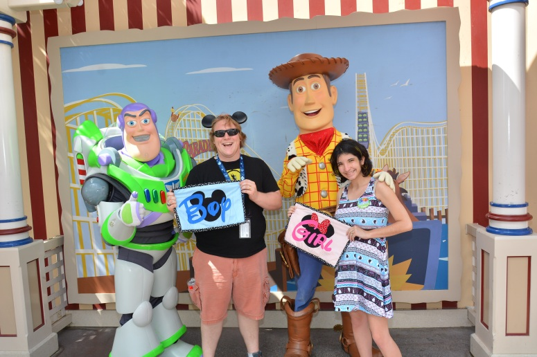 disneyland gender guessing game baby shower buzz and woody