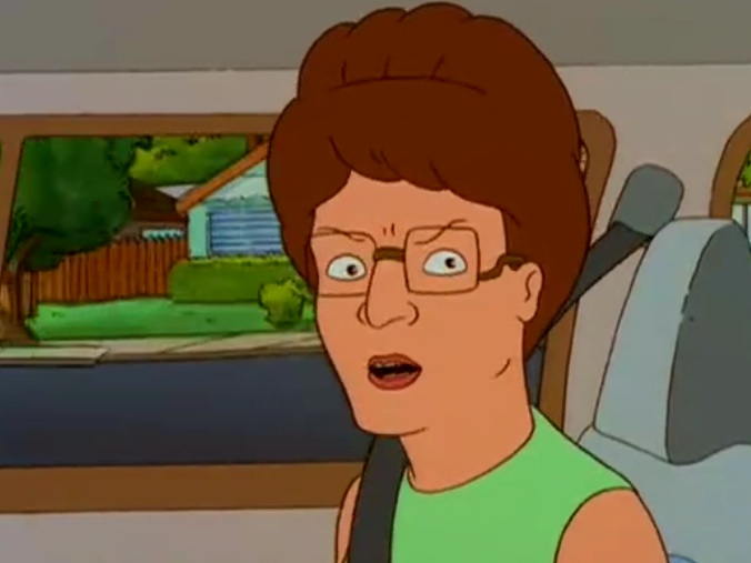 peggy hill crazy eyes angry